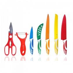 Set de cuchillos suizos revestimiento de cerámica + Pelador